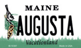 Augusta Maine State License Plate Magnet M-10387