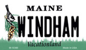 Windham Maine State License Plate Magnet M-10396