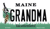 Grandma Maine State License Plate Magnet M-10403
