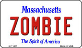 Zombie Massachusetts State License Plate Magnet M-11001