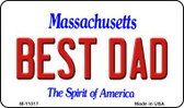 Best Dad Massachusetts State License Plate Magnet M-11017