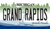 Grand Rapids Michigan State License Plate Novelty Magnet M-6109