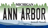Ann Arbor Michigan State License Plate Novelty Magnet M-6110
