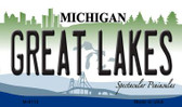 Great Lakes Michigan State License Plate Novelty Magnet M-6112
