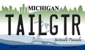 Tailgtr Michigan State License Plate Novelty Magnet M-3681