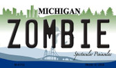 Zombie Michigan State License Plate Novelty Magnet M-6702