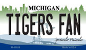 Tigers Fan Michigan State License Plate Novelty Magnet M-11028