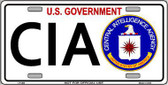 CIA Metal Novelty License Plate LP-303