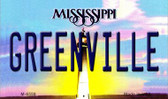 Greenville Mississippi State License Plate Magnet M-6559