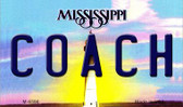 Coach Mississippi State License Plate Magnet M-6596