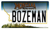 Bozeman Montana State License Plate Novelty Magnet M-11092