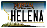 Helena Montana State License Plate Novelty Magnet M-11093