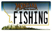 Fishing Montana State License Plate Novelty Magnet M-11110