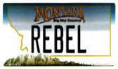 Rebel Montana State License Plate Novelty Magnet M-11130