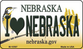 I Love Nebraska State License Plate Magnet M-10567