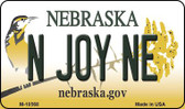 N Joy NE State License Plate Magnet M-10568