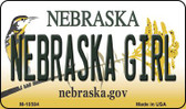 Nebraska Girl Nebraska State License Plate Magnet M-10584