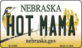 Hot Mama Nebraska State License Plate Magnet M-10589
