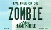 Zombie New Hampshire State License Plate Magnet M-11156