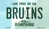 Bruins New Hampshire State License Plate Magnet M-5436
