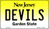 Devils New Jersey State License Plate Magnet M-2302