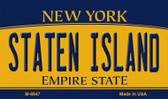 Staten Island New York State License Plate Magnet M-8947