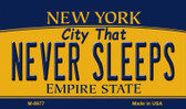 Never Sleeps New York State License Plate Magnet M-8977