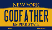 Godfather New York State License Plate Magnet M-8984