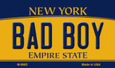 Bad Boy New York State License Plate Magnet M-8985