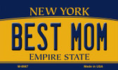 Best Mom New York State License Plate Magnet M-8987