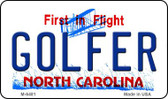 Golfer North Carolina State License Plate Magnet M-6481