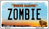 Zombie North Dakota State License Plate Magnet M-10710