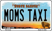 Moms Taxi North Dakota State License Plate Magnet M-10722