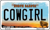 Cowgirl North Dakota State License Plate Magnet M-10735