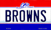 Browns Ohio State License Plate Magnet M-2056