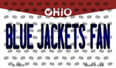Blue Jackets Fan Ohio State License Plate Magnet M-10839