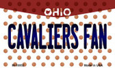 Cavaliers Fan Ohio State License Plate Magnet M-10852