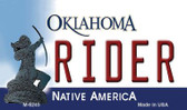 Rider Oklahoma State License Plate Novelty Magnet M-6245