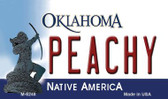 Peachy Oklahoma State License Plate Novelty Magnet M-6248