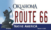 Route 66 Oklahoma State License Plate Novelty Magnet M-6262