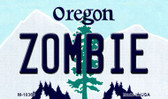 Zombie Oregon State License Plate Magnet M-10366