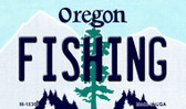 Fishing Oregon State License Plate Magnet M-10369
