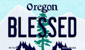 Blessed Oregon State License Plate Magnet M-10376