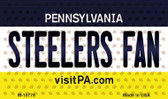 Steelers Fan Pennsylvania State License Plate Magnet M-10778