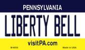 Liberty Bell Pennsylvania State License Plate Magnet M-6050