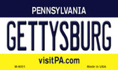 Gettysburg Pennsylvania State License Plate Magnet M-6051