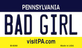 Bad Girl Pennsylvania State License Plate Magnet M-6066