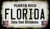 Florida Puerto Rico State License Plate Magnet M-2837