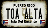 Toa Alta Puerto Rico State License Plate Magnet M-2878