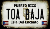 Toa Baja Puerto Rico State License Plate Magnet M-2879